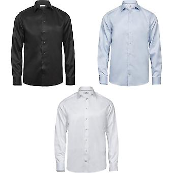 Tee Jays Mens luxe Comfort Fit chemise Oxford à manches longues