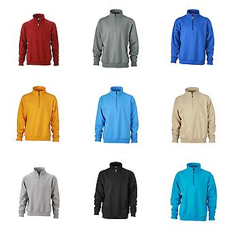 James and Nicholson unisexe Workwear Half Zip Sweatshirt