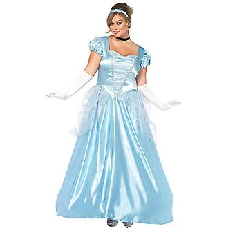 Womens Plus Size Classic Long Cinderella Halloween Storybook Costume