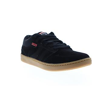 Globe Octave Mid RM  Mens Black Suede Lace Up Athletic Skate Shoes