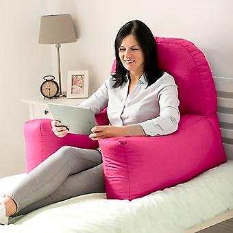 Muuttaminen Sofas | Puuvilla Twill & Chloe & Bean Bag Back Rest Reading Tyyny (Pink)