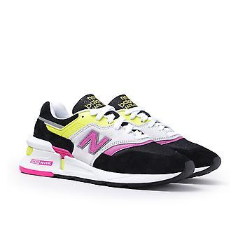 New Balance 997 Made in USA Sportstyle Neon Gelb & Rosa mit schwarz & weiß Wildleder Trainer