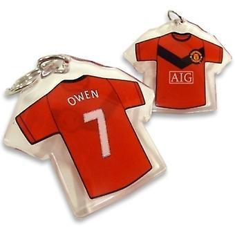 Manchester United Shirt Keyring OWEN