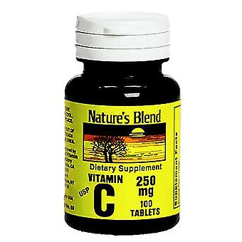 Nature's blend vitamin c, 250 mg, tablets, 100 ea