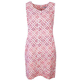 Alice Collins Harriet Style Coral Geometric Design Sleeveless Dress