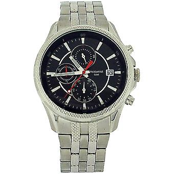 Accurist Gents Chronograph Date All Stainless Steel Bracelet Strap Watch MB935B