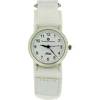 Relda Girls First Holy Communion Analogue White Dial & White Easy Fasten Watch
