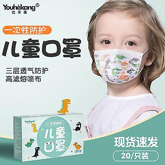 KIDS Dino Design 3-layer protective mask, Box with 20 pieces