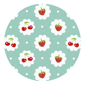 Kids Rug - Red Fruit - Washable - Circle 75 cm