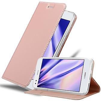 Cadorabo fall för Huawei Y6 PRO 2017 fallskydd - telefonfodral med magnetiskt lås, ståfunktion och kortfack - Case Cover Protective Case Case Book Folding Style