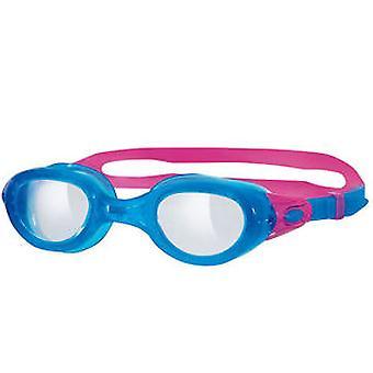 Zoggs Phantom tydlig simma Goggle - blå/rosa ram
