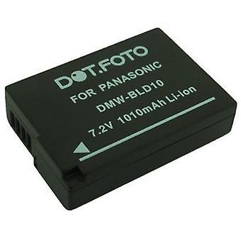 Dot.Foto Panasonic DMW-BLD10, de batterij van de vervanging van de DMW-BLD10E - 7.2V / 1010mAh