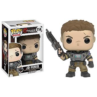 Funko Pop Games Gears Of War Jd Armored Vinyl Figure + Pop Protector