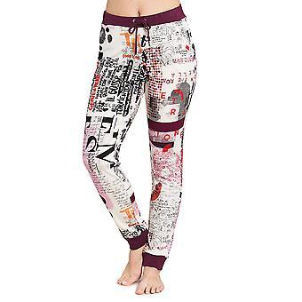 Féraud 3191128-11777 Women's Casual Chic White Multicolour Loungewear Pant