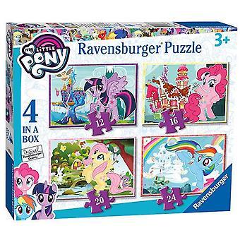 Ravensburger My Little Pony, 4 em uma caixa (12, 16, 20, 24pc) Quebra-cabeças