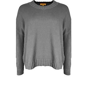 Yellow Label Grey Oversized Knit Jumper