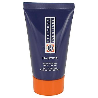 Latitude Longitude Body Wash Shower Gel By Nautica 1 oz Body Wash Shower Gel