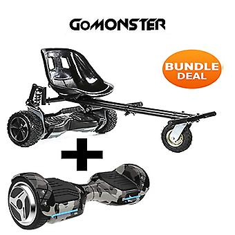 "6.5"" G PRO Camo Bluetooth Hoverboard with Go Monster Hoverkart in Black"