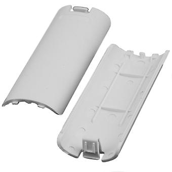 GNG 1-2 x Controller Compatible Nintendo Wii Remote Rear Battery Pack Cover Case - White