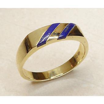 Gouden cachet ring met lapis lazuli