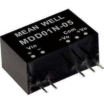 Mean Well MDD01N-15 DC/DC converter (module) 34 mA 1 W No. of outputs: 2 x