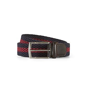 Braided belt john navy / bordeaux