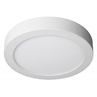 Jandei 2x Downlight LED 18W Okrągła powierzchnia Zimna biała lampa 6000K, matowy biały pierścień aluminiowy