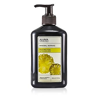 Ahava Mineral Botanic Velvet Body Lotion - Tropical Pineapple & White Peach 400ml/13.5oz