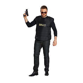 SWAT kamizelka męska kostium specjalne karnawał