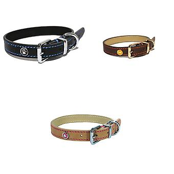 Rosewood Lux Leather Dog Collar