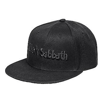 Musta sapatti logo ja demon snapback cap