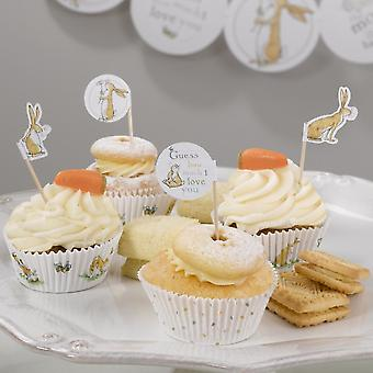 Guess How Much I Love you Cupcake Picks Pack of 20 Canape Flags
