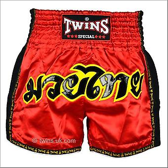 Twins special red retro muay thai shorts