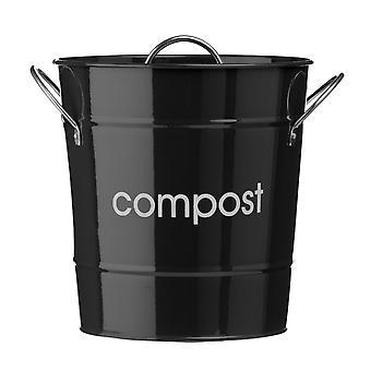 Svart kompostbehållare, 19cm