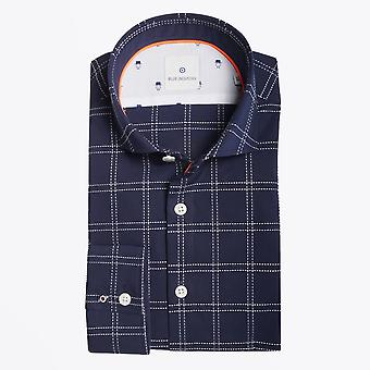 Blue Industry - Check Stitched Shirt - Marine