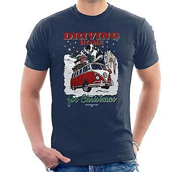Volkswagen Kerstman rijden thuis voor kerstmannen ' s T-shirt