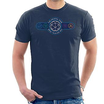 The Crystal Maze Logo Coloured Symbols Men's T-Shirt
