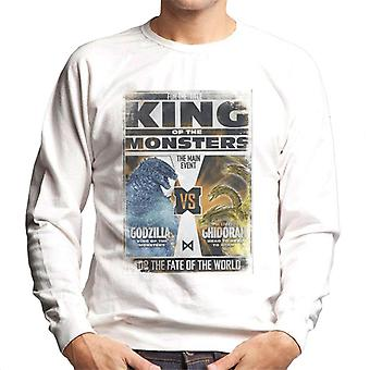 Godzilla Vs Ghidorah King Of The Monsters Poster Men's Sweatshirt