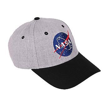 NASA Baseball Cap Classic Space Logo US Flag nouveau Strapback officiel Gris