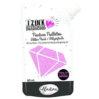 Aladine Izink Diamond Glitter Paint 24 karat Pink 80ml
