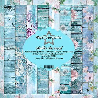 Dixi Craft Shabby Chic Wood 12x12 Inch Paper Pack