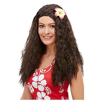 Naisten Hawaiian Peruukki - Ruskea