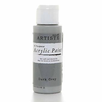 Docrafts Pintura Acrílica (2oz) - Gris Oscuro (DOA 763258)