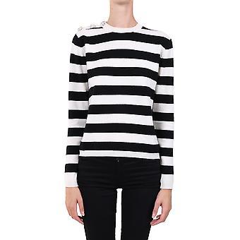 Ganni K1380099 Femmes-apos;s Blanc / noir Pull en cachemire