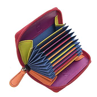 Primehide Womens Leather Card Holder Wallet RFID Blocking Purse Ladies 6091