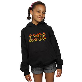 AC/DC Mädchen Flammen Logo Hoodie