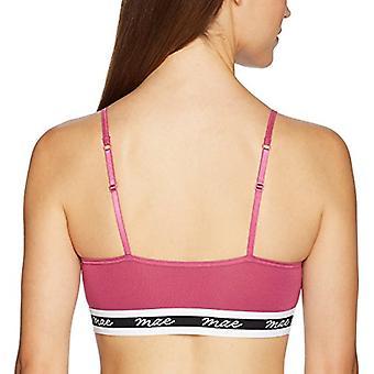 Merk - Mae Women's Pullover Modal Matte Logo Elastic Bralette, Magenta Haze, Medium