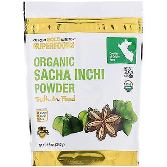 California Gold Nutrition, Superfoods, Organic Sacha Inchi Powder, 8.5 oz (240 g