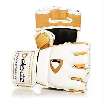 Elevate 4oz fight gloves 2-tone - white gold