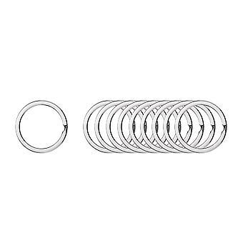 200PCS Rond Anneau de chaîne de clé plat Argent 1.6x28mm
